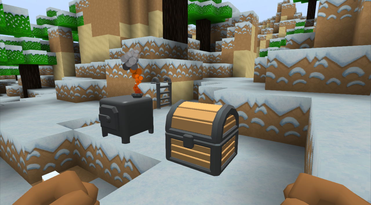 Chest. Furnace, and Ladder